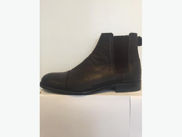 mens zara dark brown boots size 45/11
