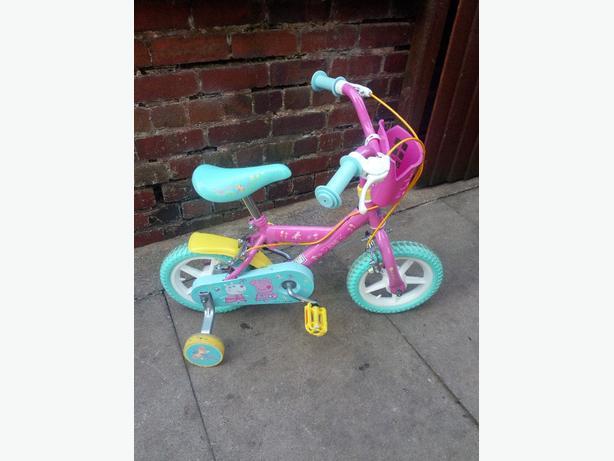 """10"""" peppa pig girls bike"""