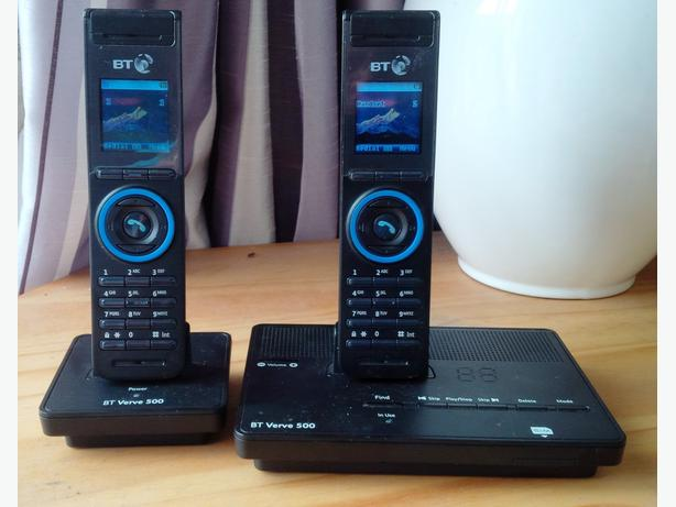 BT Verve 500 duo Cordless phones with Answering Machine