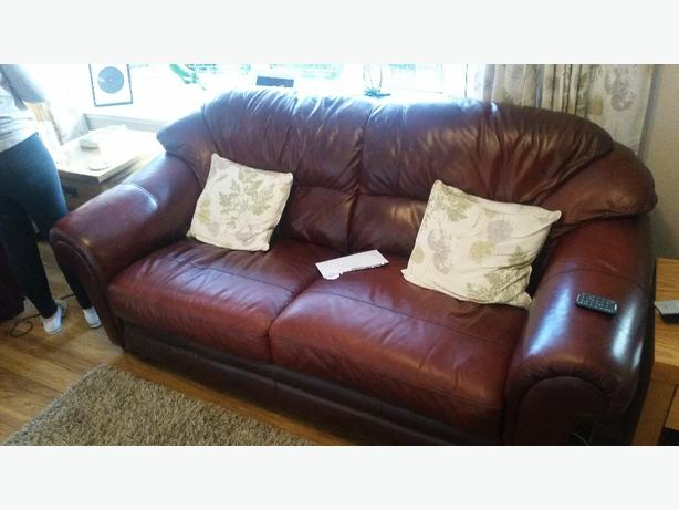 Three &Two seater  leather suite