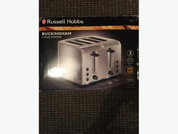 brand new russel hobbs buckingham 4 slice toaster