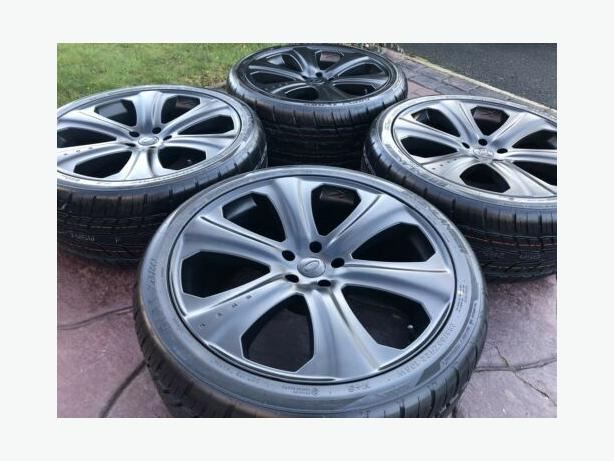"""Genuine Kahn RS-D 22"""" Range Rover Sport Discovery Alloy Wheels & Tyres"""