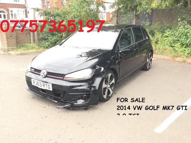 "2014 (63) VW GOLF MK7 GTI 2.0 TSI MANUAL BLACK 18"" ALLOYS MOT 08/05/2020"