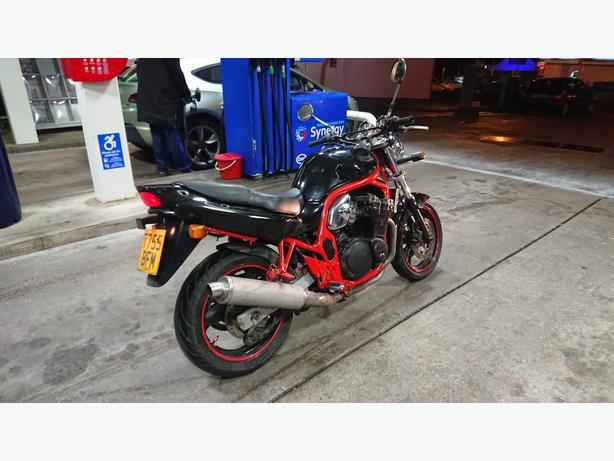 Suzuki bandit 600cc 6speed, motd swaps for a car.