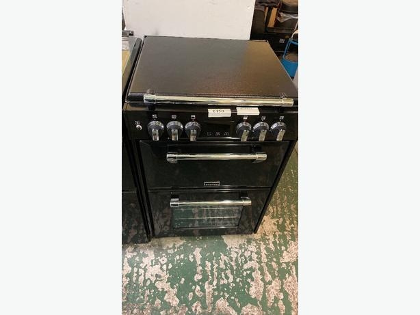 black 60 cm stoves dual fuel cooker at RECYK APPLIANCES