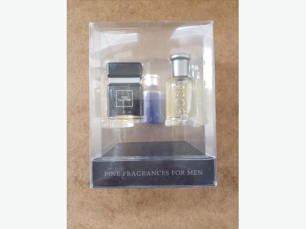 Designer fragrances for men gift set. Boss. Very Valentino. Givenchy.