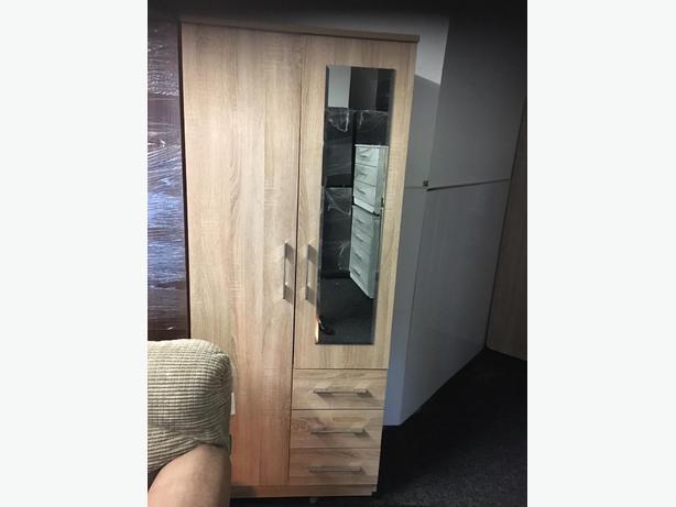 2 door wardrobe mirrored