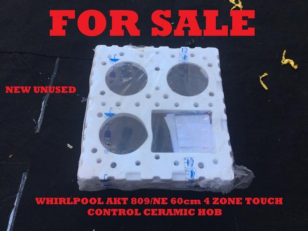 WHIRLPOOL AKT809/NE 60cm 4 ZONE TOUCH CONTROL CERAMIC HOB