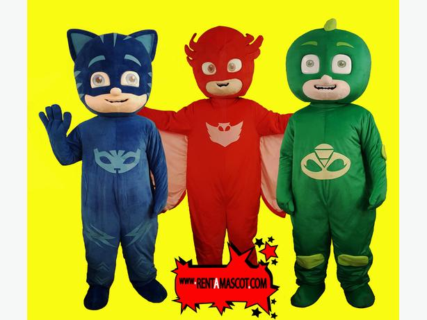 PJ MASKS OWLETT CATBOY GEKKO MASCOT COSTUME CHARACTER HIRE KIDS PARTY