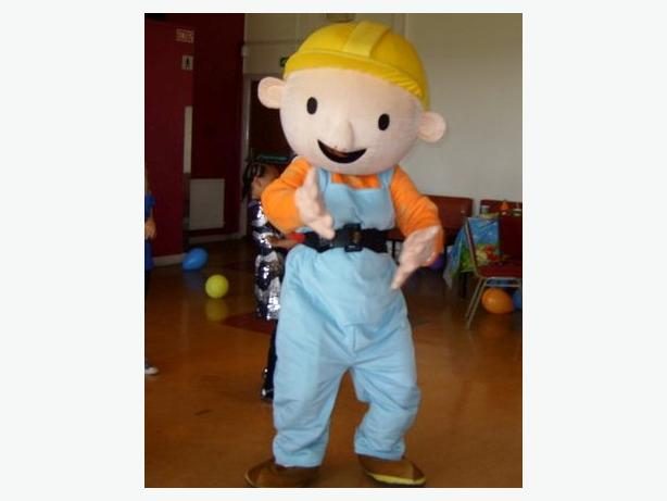 BOB THE BUILDER BEN 10 MASCOT FANCY DRESS COSTUME HIRE CHILDS PARTY ENTERTAINER