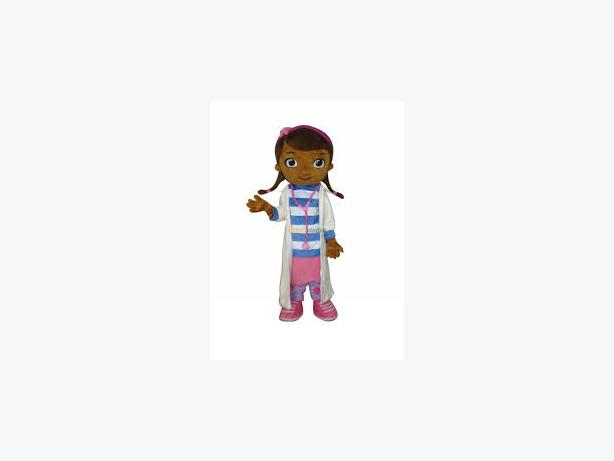 DOC MC STUFFINS DOCTOR MASCOT COSTUME HIRE KIDS PARTY ENTERTAINMENT