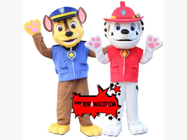 MARSHALL CHASE PAW PATROL MASCOT FANCY DRESS COSTUME HIRE KIDS PARTY CHARACTER