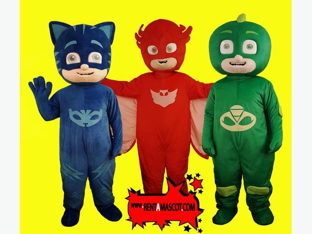 PJ MASKS OWLETT CATBOY GEKKO MASCOT COSTUME CHARACTER HIRE KIDS PARTY