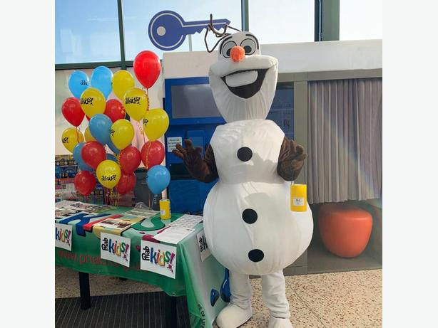OLAF FROZEN ELSA MASCOT COSTUME HIRE CHILDRENS BIRTHDAY PARTY ENTERTAINER