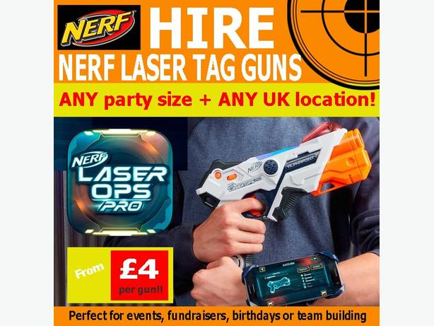 NERF Laser tag gun hire KIDS CHILDRENS birthday party planner entertainment