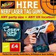 NERF Laser tag gun hire KIDS CHILDRENS birthday party planner entertainment