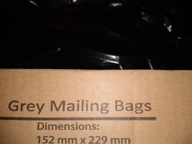 Standard polythene Mailing Bags 152x229mm