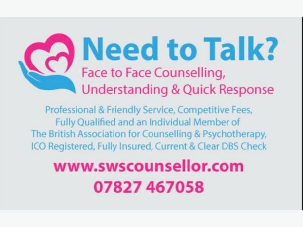 Counsellor/Counselling Therapist Stourbridge