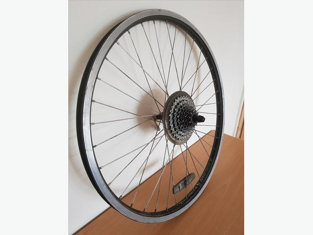 Specialized 26 inch bike wheel with 8 speed cassette
