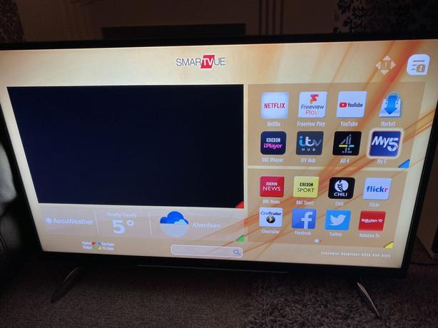 hitachi 4k ultra hd smart 43 inch led tv+built in apps+wifi+remote+DELIVERY