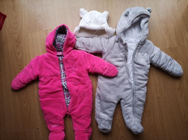 2 x baby girl snowsuits (worn once)