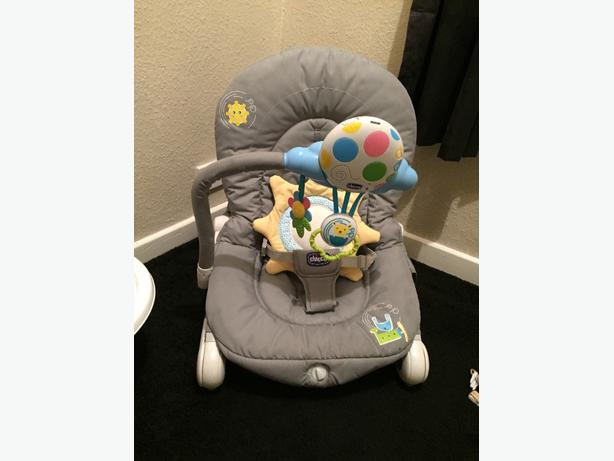 baby gym bear and rocking chair bouncer