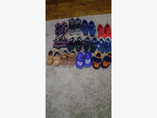selection of toddler footwear