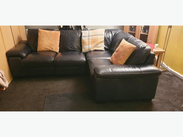 leather corner unit