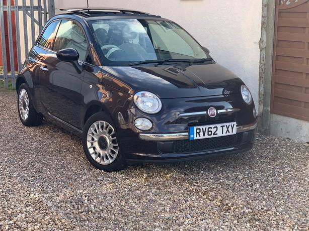 2012 FIAT 500 0.9 TWINAIR LOUNGE + LOW 33,000 MILES + HOME DELIVERY SERVICE