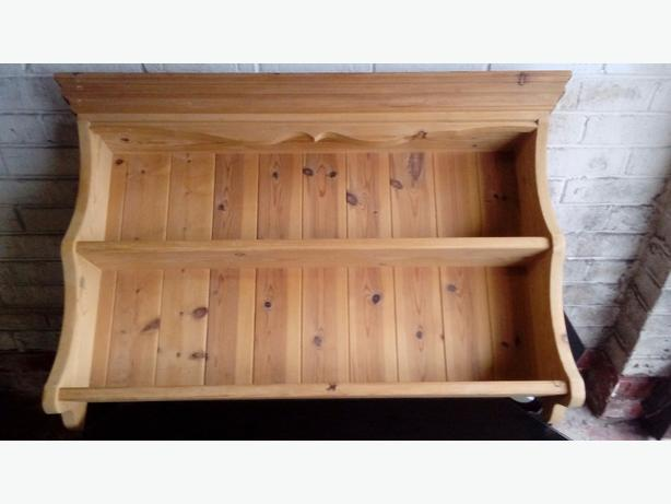 Welsh dresser style pine shelf / wall unit