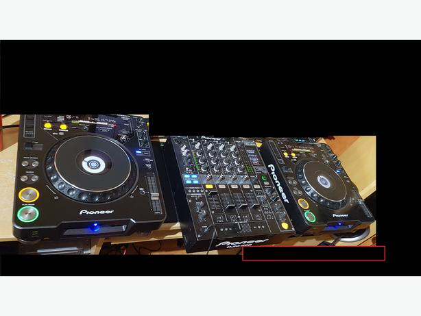 Pioneer 2x cdj-1000mk3 1x djm-800 Mixer