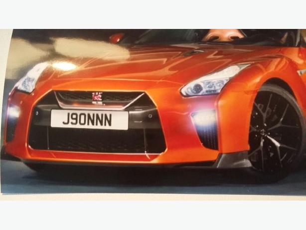 number plate J90NNN  on retention for sale
