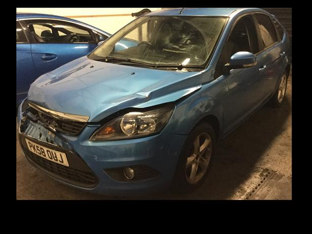 2008 (58) FORD FOCUS ZETEC 100 1.6 BLUE SALVAGE DAMAGED REPAIRABLE