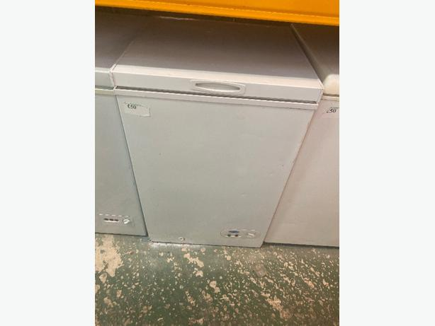 white chest freezer with 3 months warranty