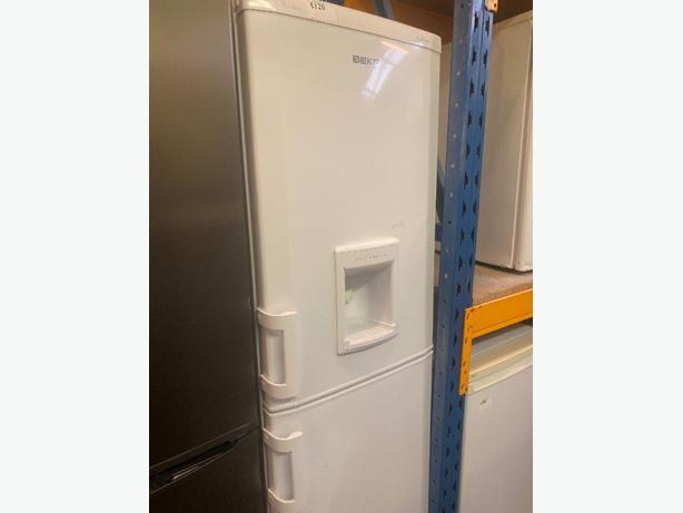 white beko fridge freezer with 3 months warrabty