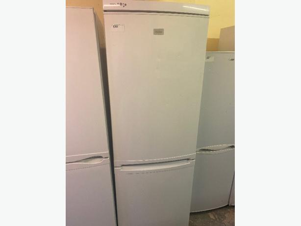 white zanussi fridge freezer with 3 months warranty