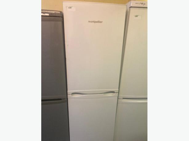 white montpellier fridge freezer with 3 months warranty