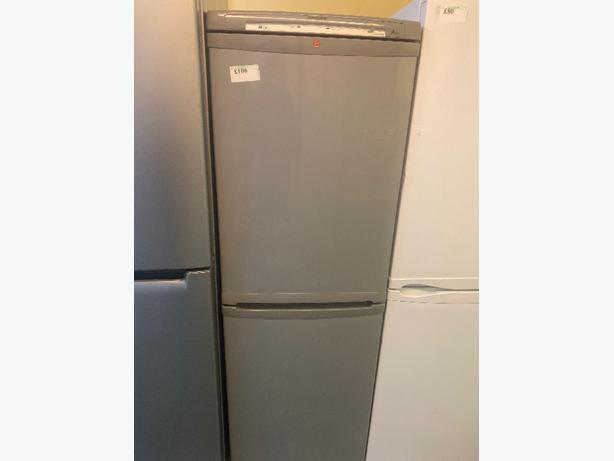 grey hoover fridge freezer with 3 months warranty