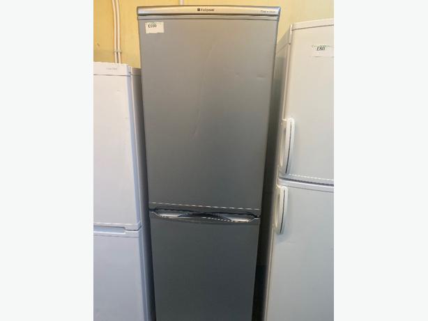 grey hotpoint fridge freezef with 3 months warranty