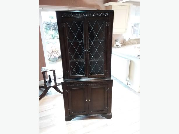 Dark oak corner unit
