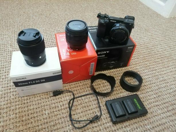 Sony Alpha a6400 Mirrorless 24.2MP 4K Digital Camera - Black (Kit with 16-50mm