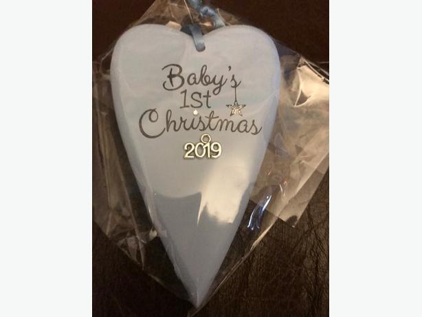 babys 1st christmas plaque