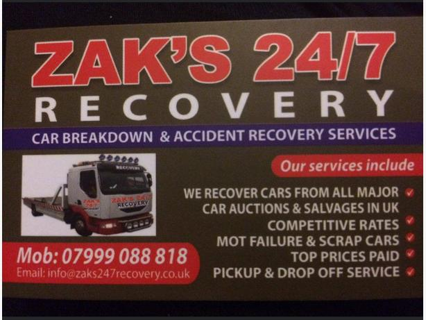 Zak's 24/7 Recovery LTD
