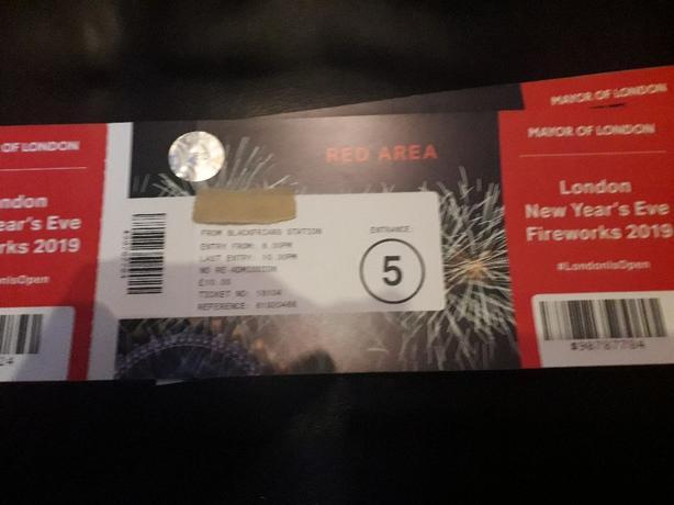 news years eve london firework display