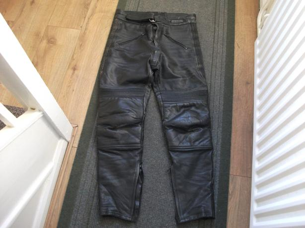 motor cycle leather trousers