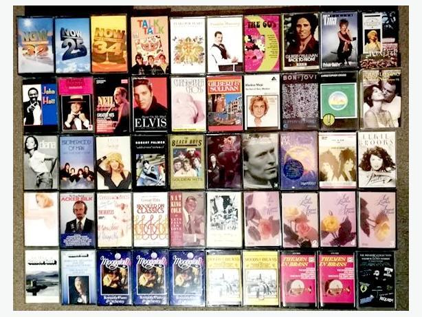 Job lot of original Cassettes Including a JVC Mini System