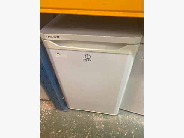 white indesit under counter fridge