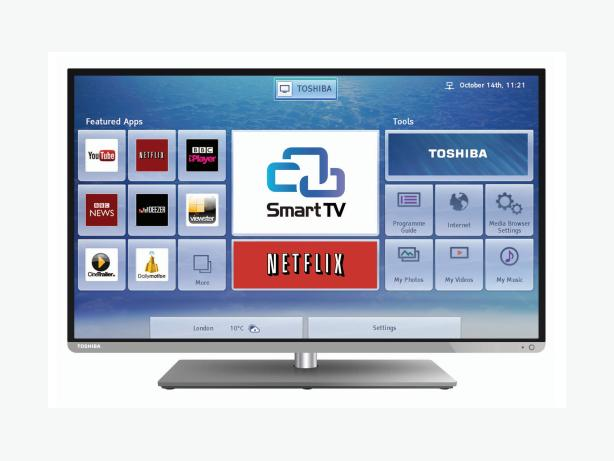 smart toshiba 3d 40 inch full hd led tv+built in apps+wifi+remote+DELIVERY