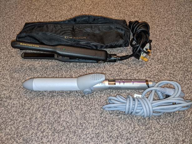 remington straightener and john frieda curling tong