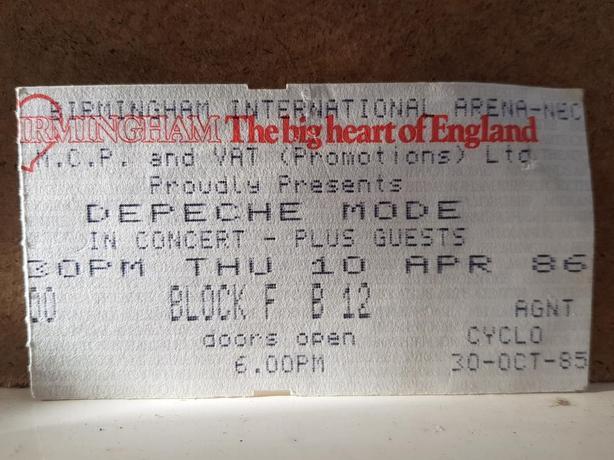 Depeche Mode Black Celebration concert tour programme 1986